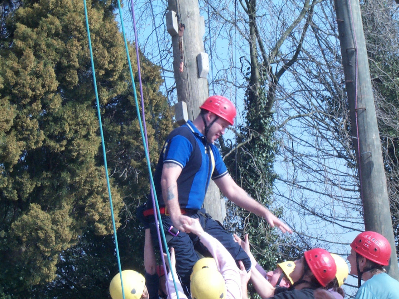Team building activity in Monmouthshire